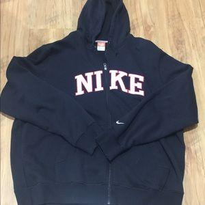 Black nike athletic hoodie